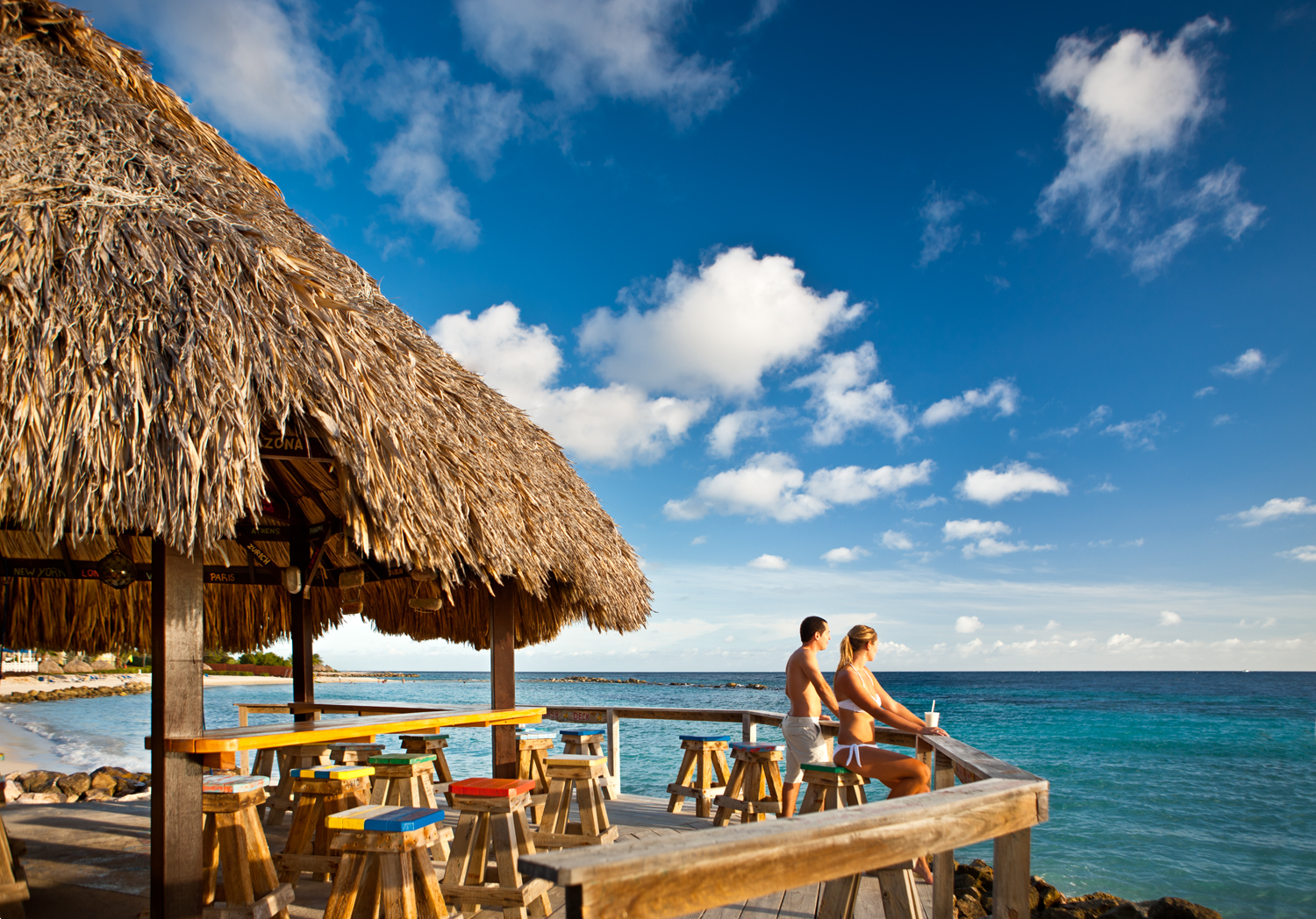 Hd Tropical Island Beach Paradise Wallpapers And Backgrounds: The Boardroom Beach Bar At The Curacao Marriott